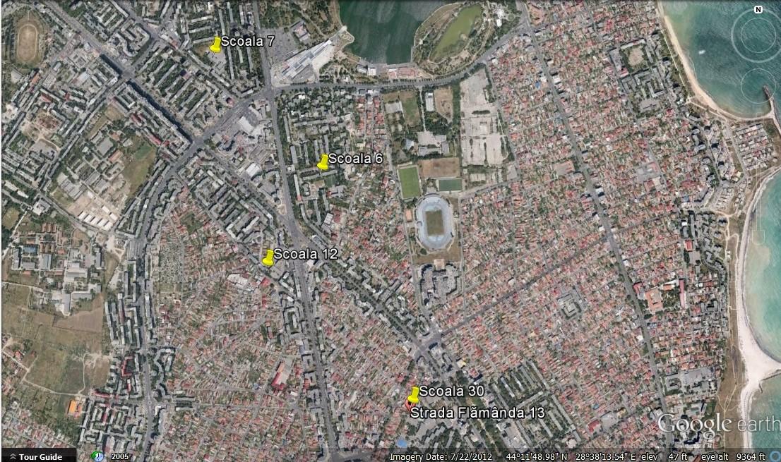Harta scoli Constanta