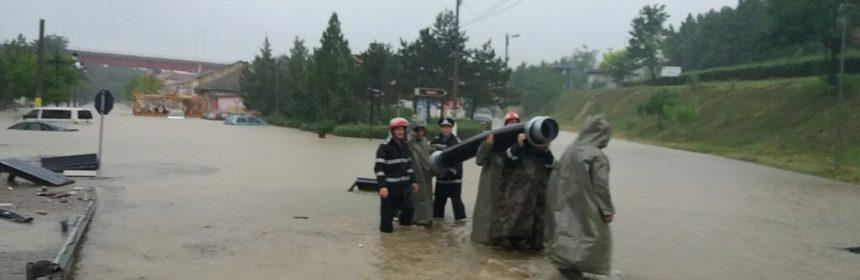 Inundație în Cernavodă, în iulie 2017