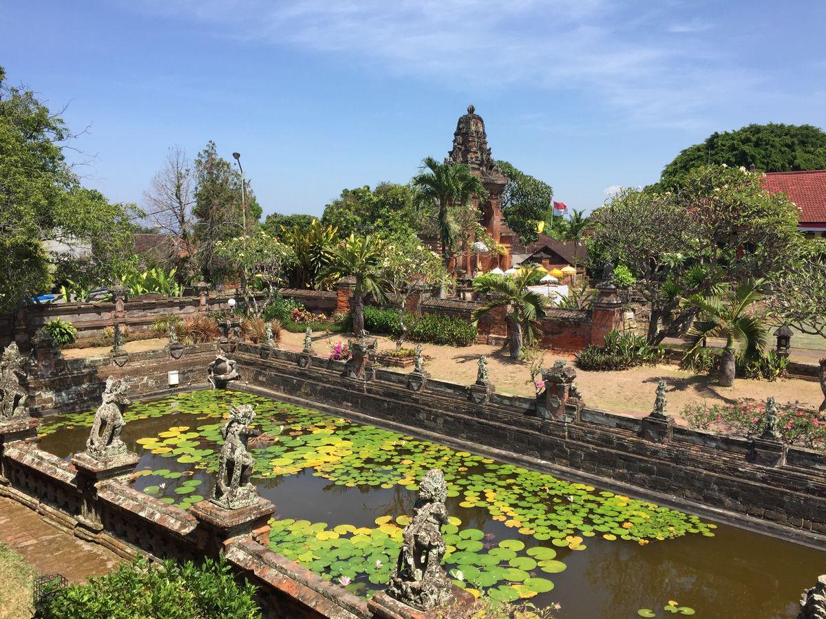 Bali, Curtea palatului vechi