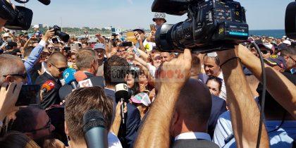 Klaus Iohannis baie de mulțime
