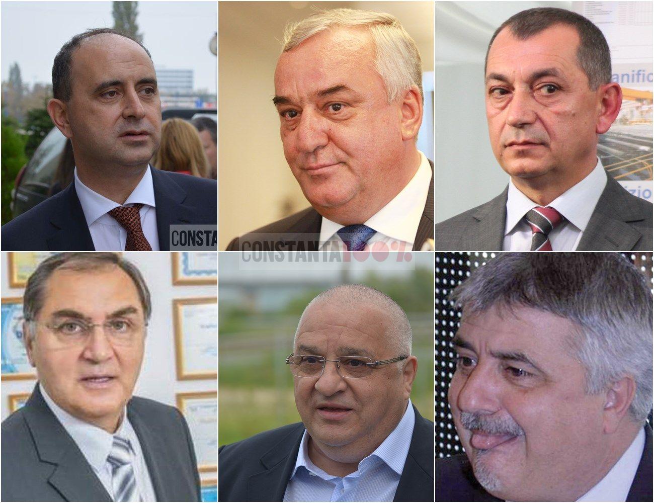 De la stânga la dreapta, de sus: Gabriel Comănescu, Florin Cârstocea, Gheorghe Bosânceanu, Nicolae Dușu, Felix Stroe, Constantin Frățilă