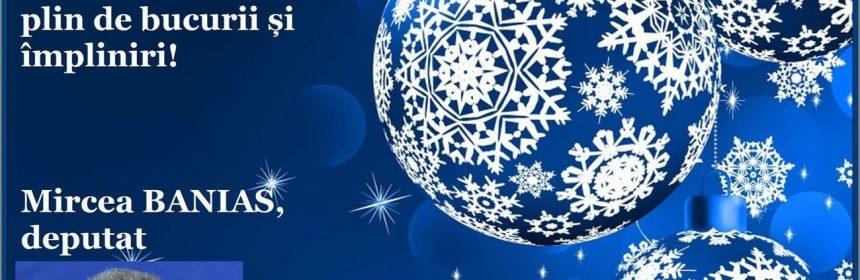 mircea banias, pro românia, felicitare, crăciun
