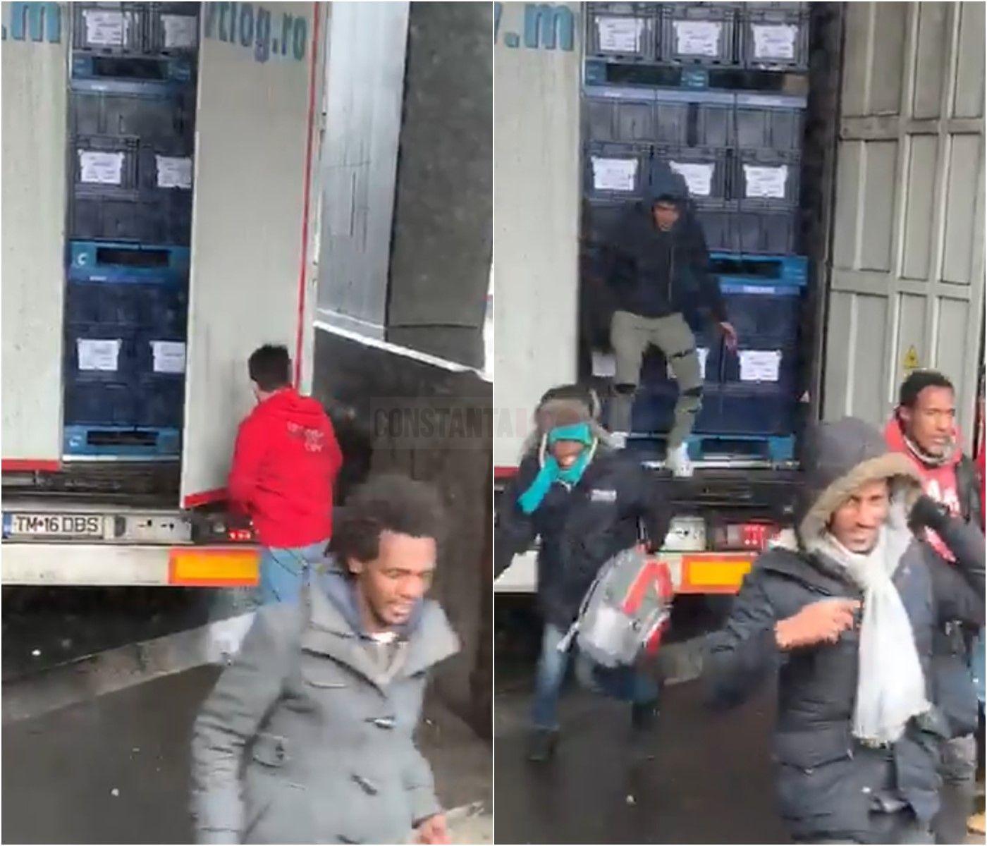 Cum au ajuns 8 migranți ilegali în Anglia, ascunși într-un TIR cu numere de România