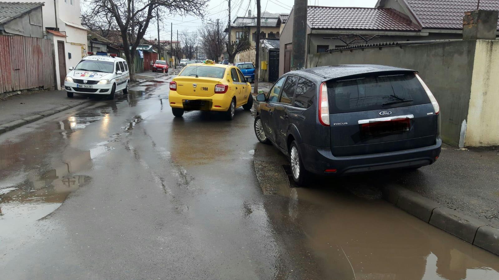 Accident rutier cu un rănit pe strada Hatman Luca Arbore din Constanța