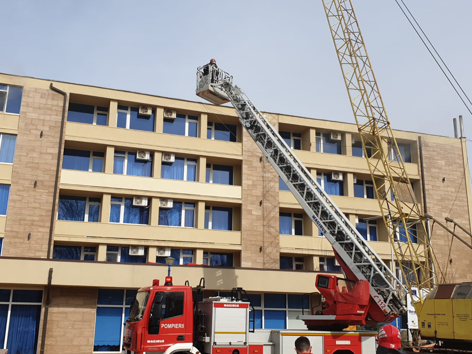 Incendiu la un hotel din Mamaia