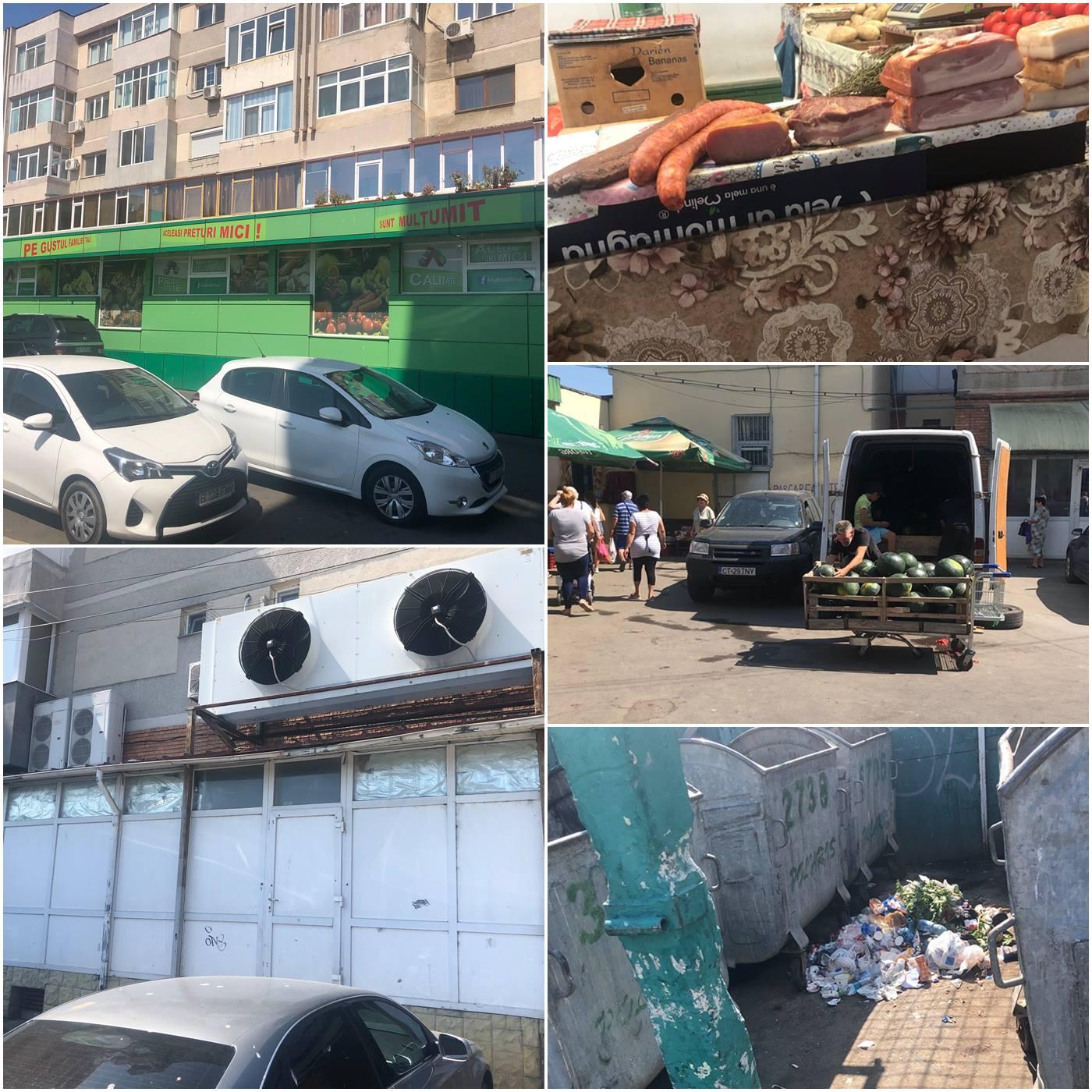 Imaginile surprinse de senatorul Vergil Chițac în zona pieței Tomis 3