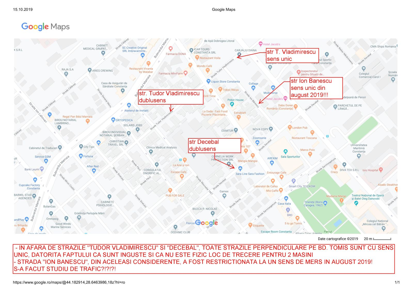 strada tudor vladimirescu harta trafic constanța