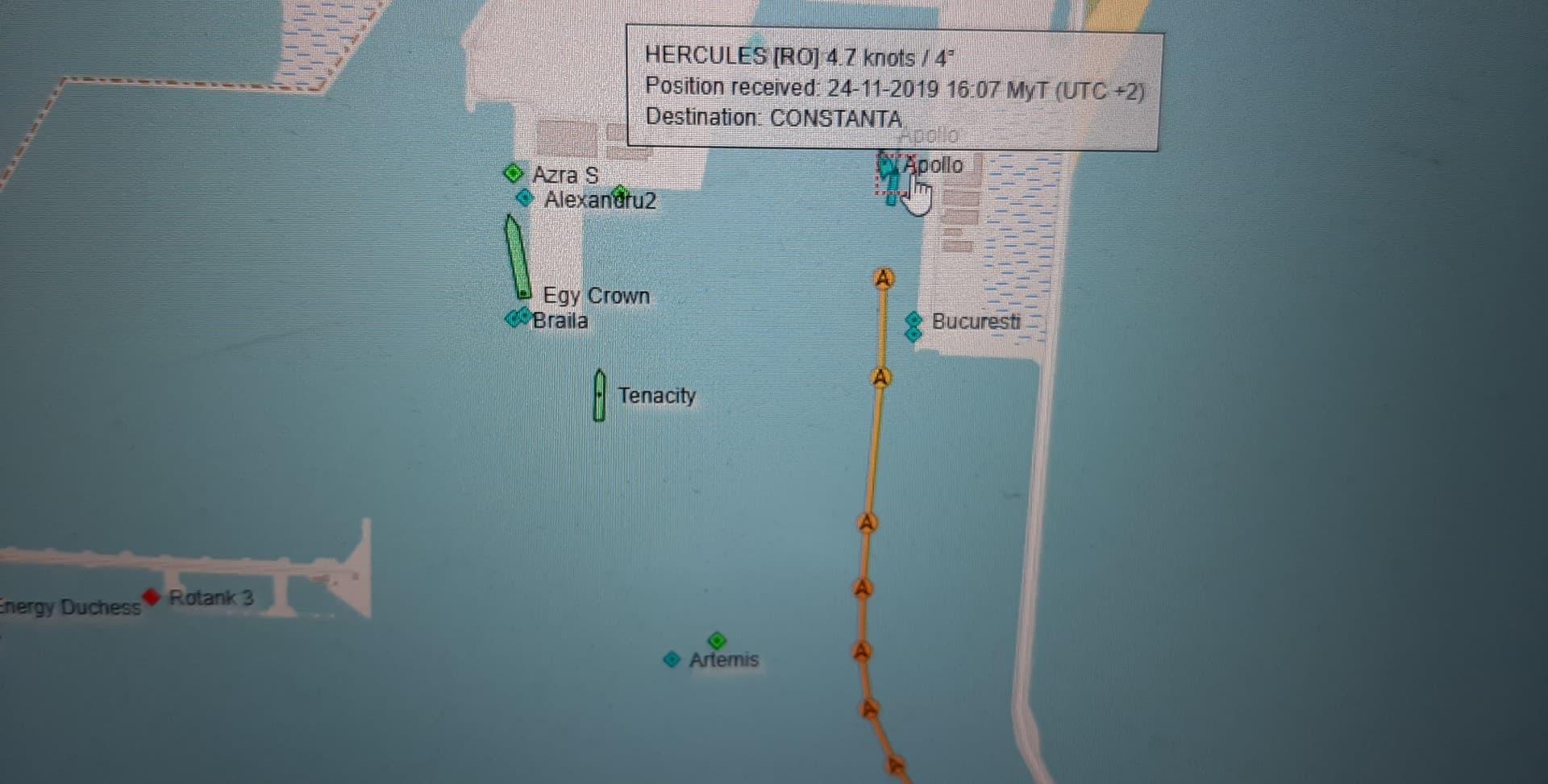 Ce se întâmpla în portul Midia la ora 16.07. Poziția navelor