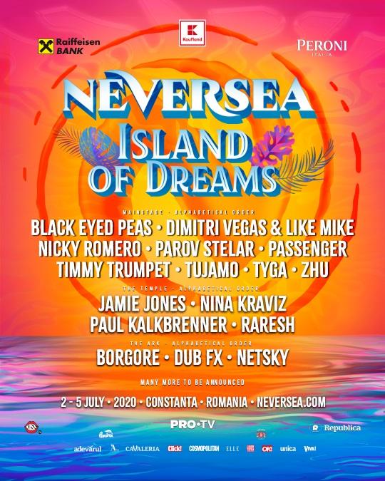 lineup neversea 2020