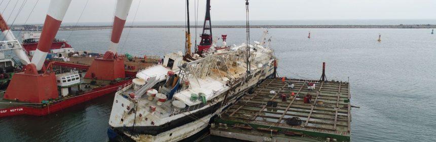 ranfluare nava esuata port midia