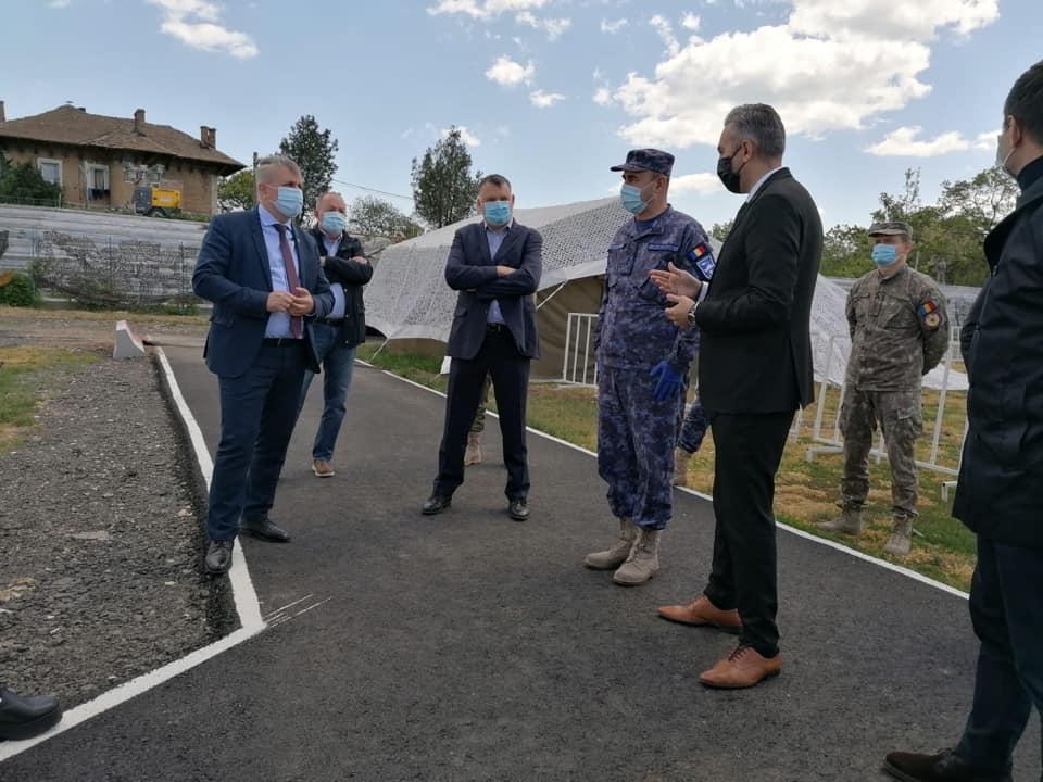 Spitalul militar modular din Constanța e gol, ministrul e mulțumit
