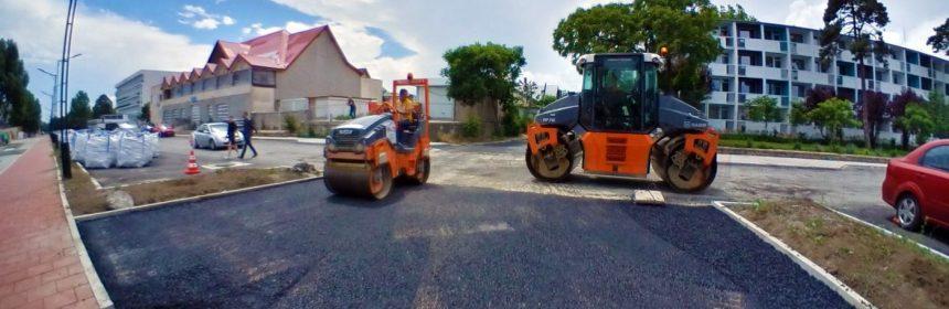 Lucrări de asfaltare în Eforie Nord