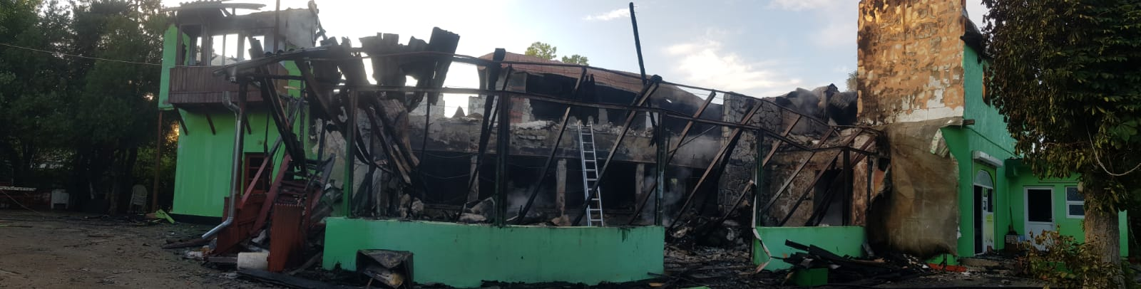 incendiu vila mangalia
