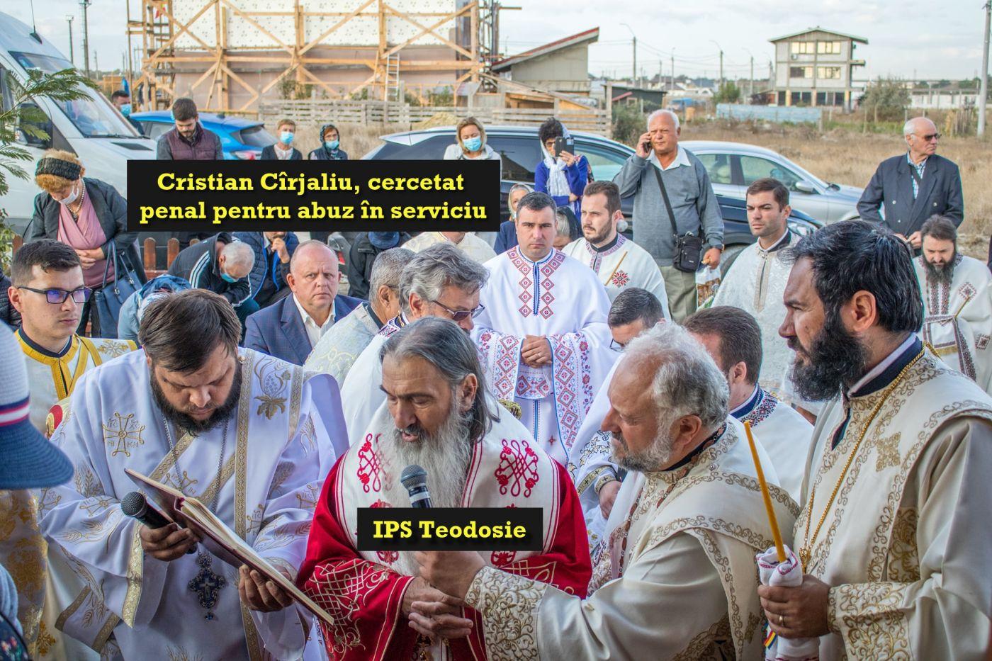 În plină campanie electorală, IPS Teodosie l-a lăudat pe primarul PSD Cristian Cîrjaliu, cercetat penal pentru abuz în serviciu