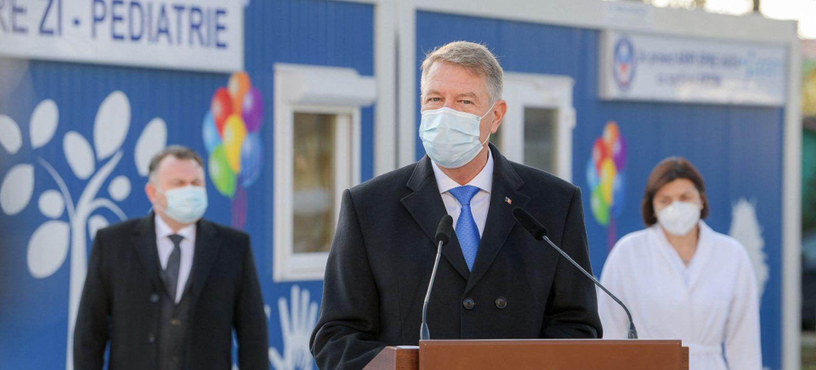 Președintele Klaus Iohannis în timpul conferinței de presă susținute pe 22 noiembrie. Sursă foto: presidency.ro