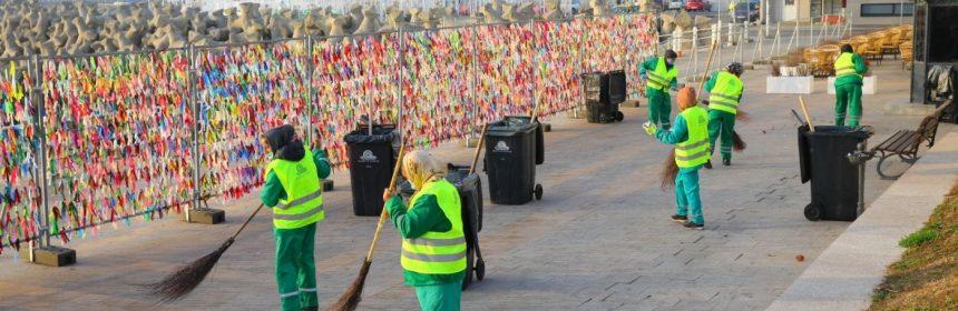 Campania de curățenie demarată de Primăria Constanța și Polaris s-a încheiat