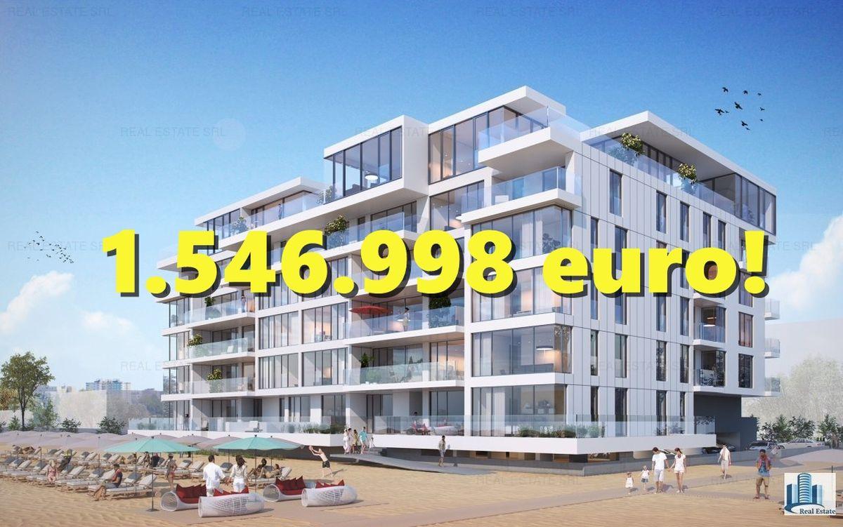 Cel mai scump apartament scos pe piață în județul Constanța costă 1.546.998 de euro și se află în Mamaia Nord. Raportat la prețul pe metru pătrat, este de două ori mai scump decât în Barcelona