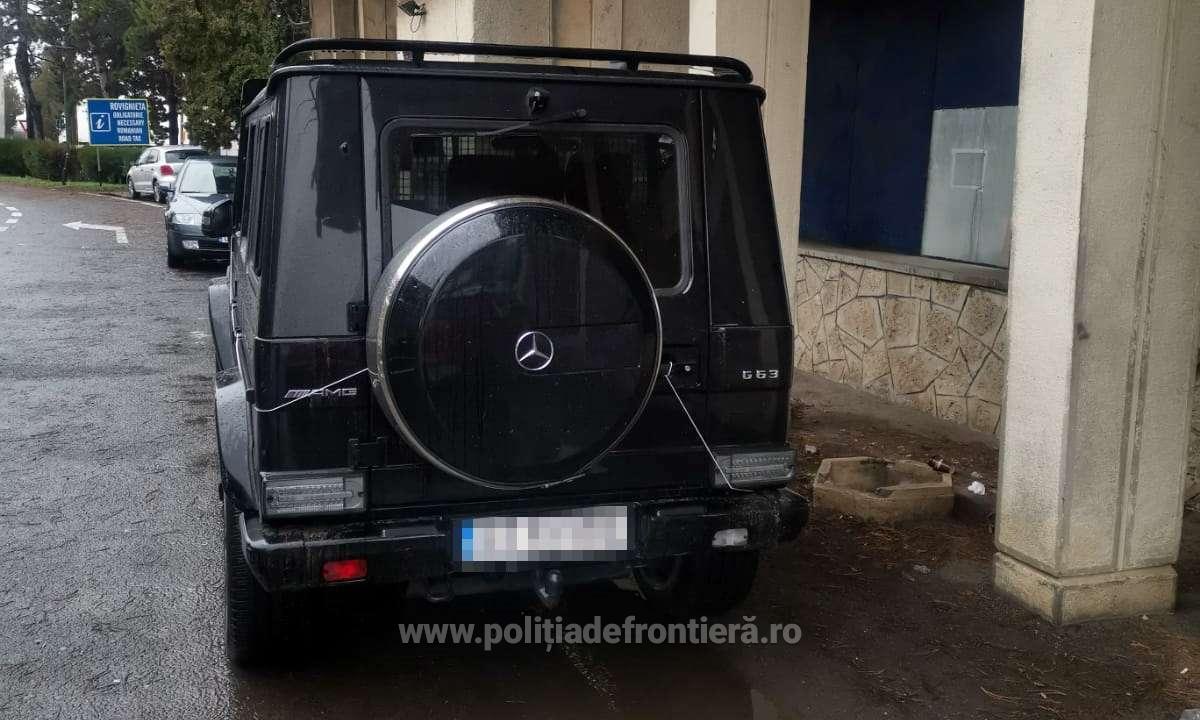 Mercedes AMG clasa G confiscat în vamă