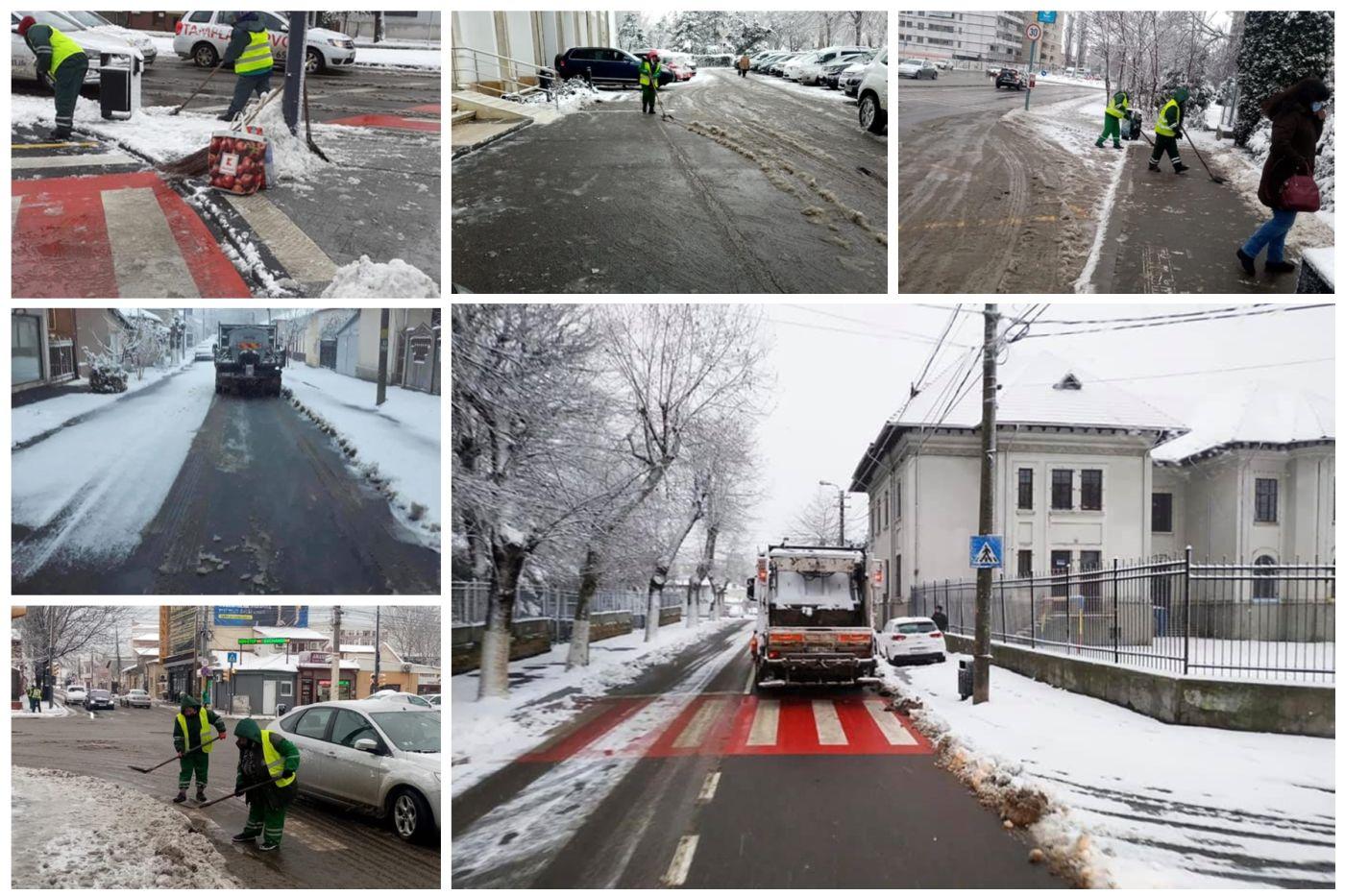 Polaris deszăpezește în Constanța cu 17 sărărițe, 22 de autospeciale cu lamă și 150 de operatori