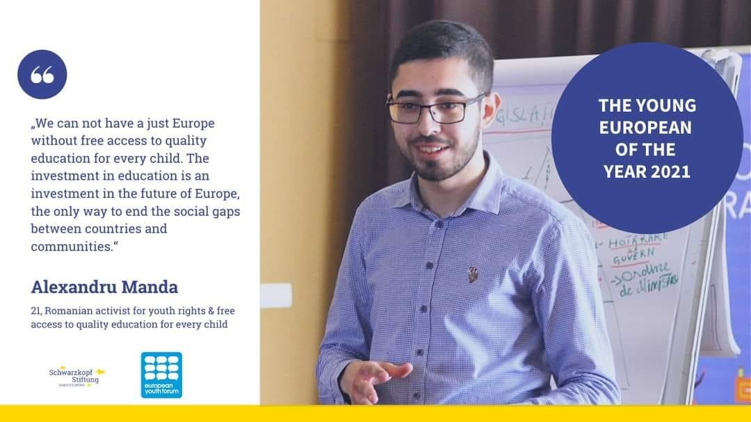 De ce este Alexandru Manda Tânărul European al Anului 2021