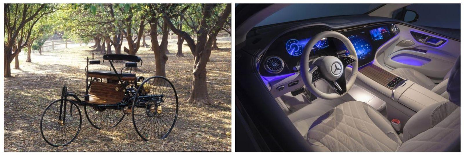 Prima mașină din lume și cel mai recent model anunțat de compania care a inventat automobilul