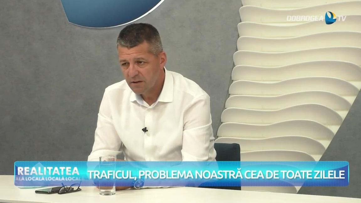 """Comisar Constantin Stoian, șeful Serviciului Rutier Constanța: """"Constant o aglomerație excesivă. Probabil că măsura a implementării sensurilor unice nu dă rezultate"""" VIDEO"""