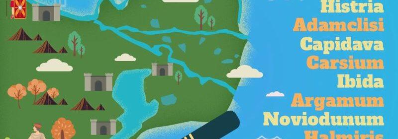 Harta interactivă a cetăților din Dobrogea