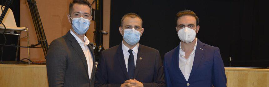 Septimiu Bourceanu, noul președinte al Organizației Municipale PNL Constanța (foto centru). În drepta, dr. Andrei Dimancea, membru în BPL