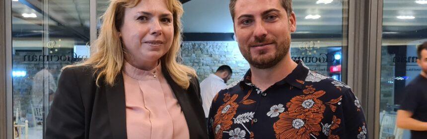 Anca Dragu și Gabriel Ciobanu, candidatul USR PLUS pentru Primăria Agigea la alegerile precedente