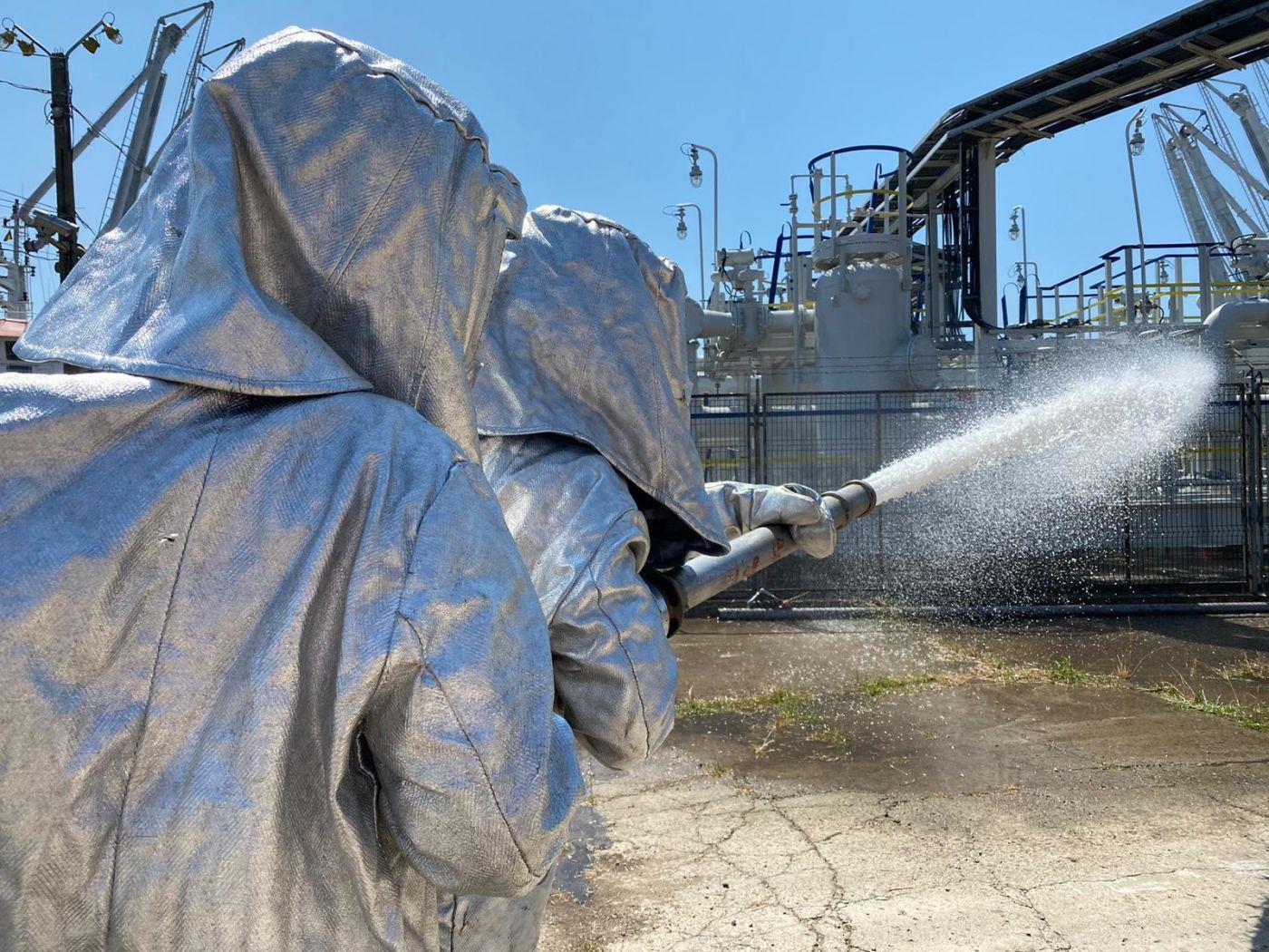 Exercițiu pentru testarea planului de urgenţă la Oil Terminal VIDEO FOTO