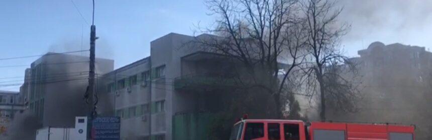 incendiu spital